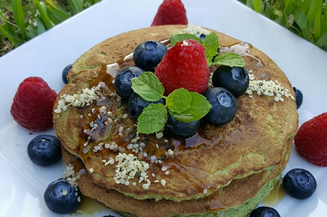 blueberries rambuesa panquecas saludables