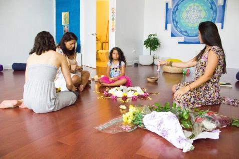 Creando el mandala de flores