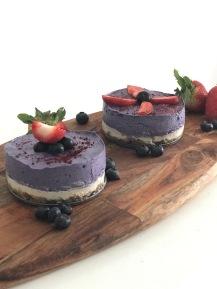 raw arandanos torta cruda